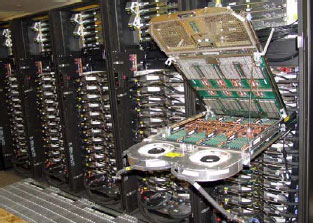 Figure 2. Power 575 supercomputing system.